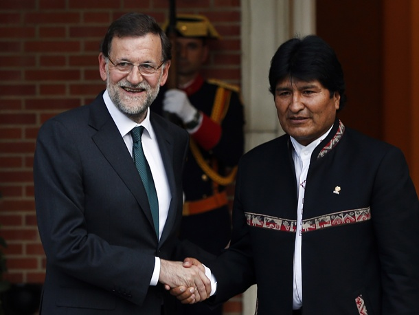 Mariano Rajoy y Evo Morales