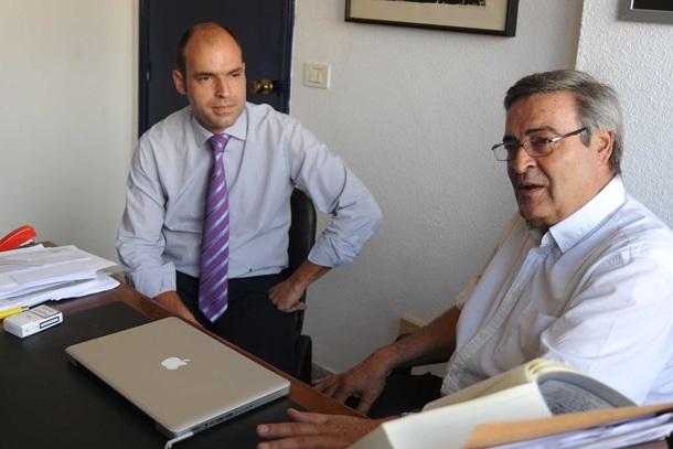 Guillermo Nunez y su hijo