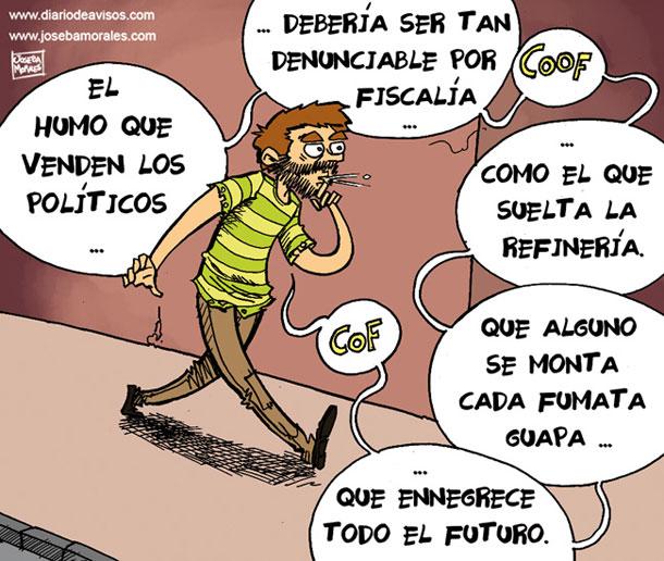Humo refinería y política - Joseba Morales