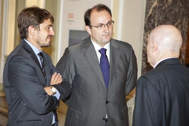 El presidente de Ashotel, Jorge Marichal, durante la reunión celebrada en Madrid. | DA