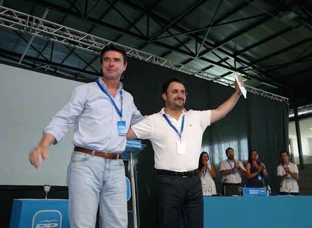 José Manuel Soria y Asier Antona Congreso PP La Palma