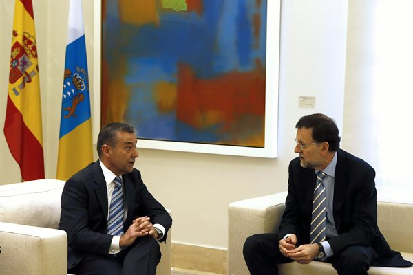 Rajoy y Rivero, durante una reunión mantenida durante esta legislatura en el Palacio de la Moncloa. / DA
