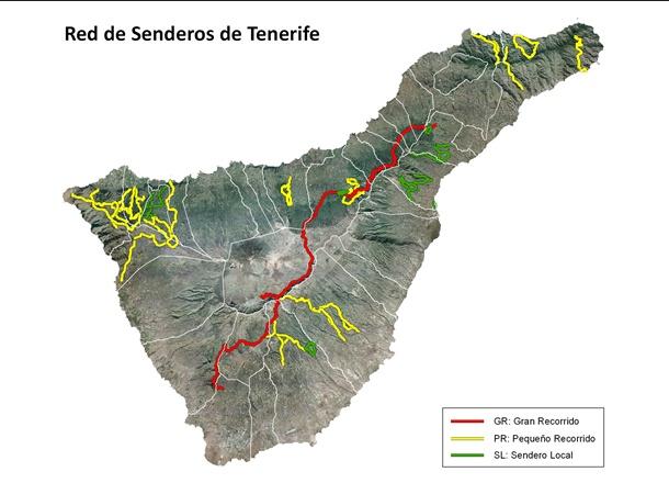red de senderos de Tenerife