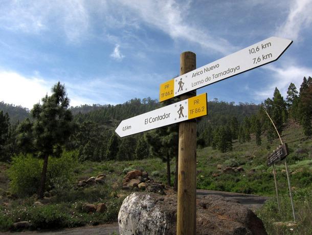 Señal senderos PR Sur de Tenerife