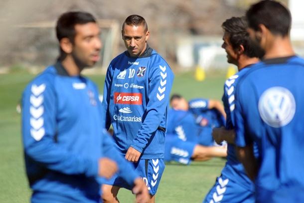 Suso entrenamiento CD Tenerife