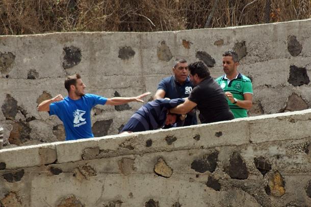 pelea final partido Tenerife B-Marino