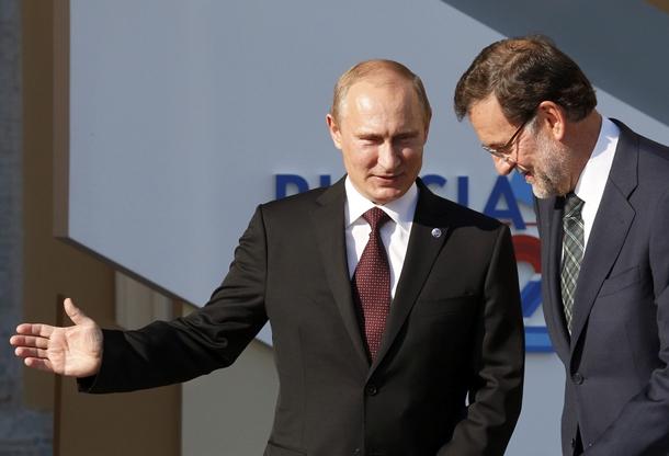Vladimir Putin y Mariano Rajoy reunión G20
