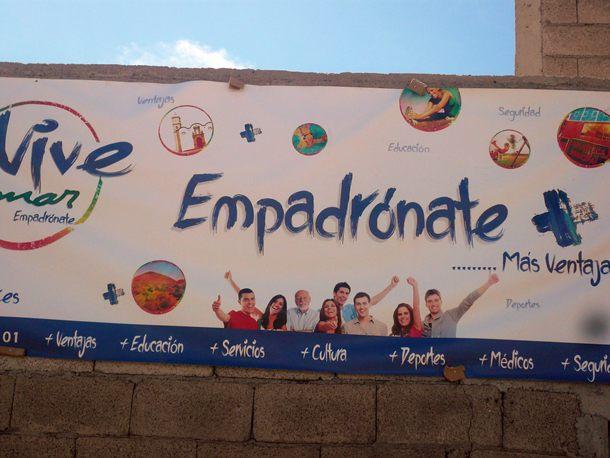 La campaña ya se promocionó con una gran valla en la Bajada de El Socorro, el pasado fin de semana. / NORCHI