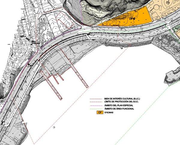 Desde Puertos se indica que la parcela del edificio está fuera de la delimitación de protección. / DA