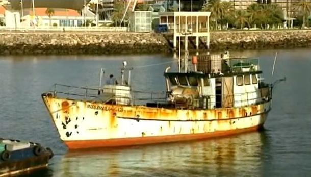 pesquero Miss Emaila con cocaina interceptado por Petrel I