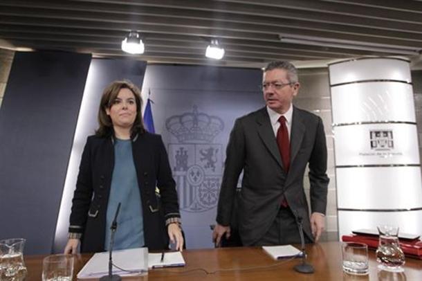 Alberto Ruíz-Gallardón y Soraya Sáenz de Santamaría.