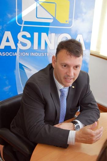 Andrés Calvo, presidente de la Asociación  Industrial de Canarias (Asinca)