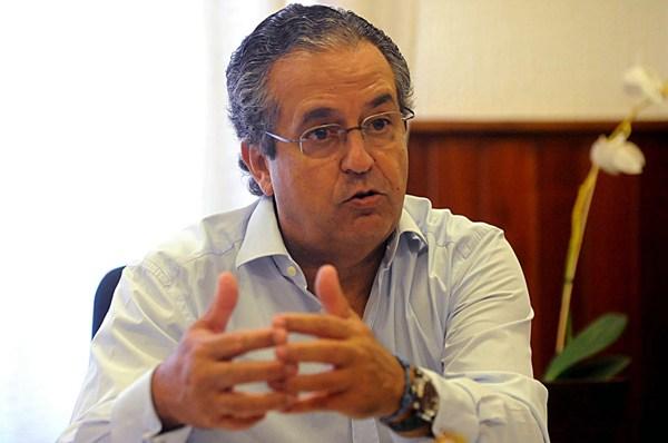 Antonio Alarcó, presidente-portavoz del grupo del PP en el Cabildo de Tenerife. | J. G.