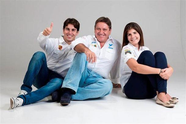 Enrique Cruz, Fernando 'Copi' Capdevila y Emma Falcón, del Disa Copi Sport.