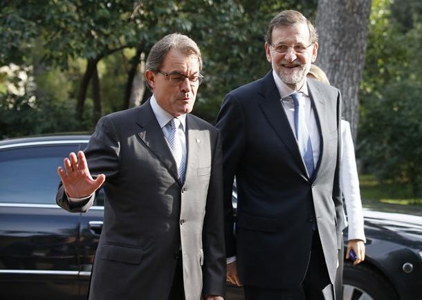 Mariano Rajoy y Artur Mas
