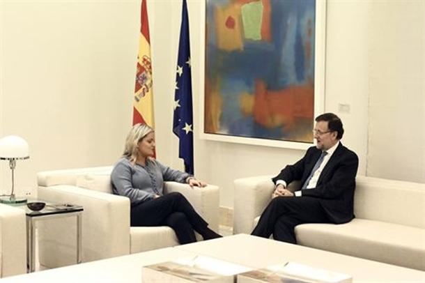 Mariano Rajoy y Mari Mar Blanco