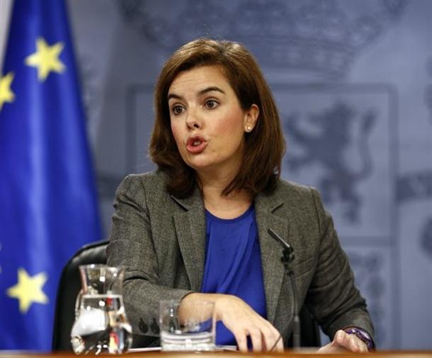 vicepresidenta del Gobierno, Soraya Sáenz de Santamaría,