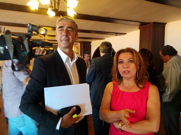 Teresa Barroso (PP), Rodolfo León (PSOE)