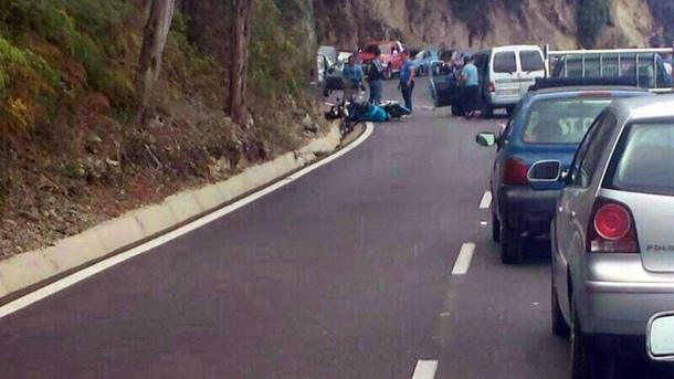 accidente Icod el Alto coche-moto