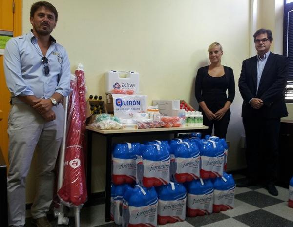 El presidente de Ashotel, Jorge Marichal, ayer, junto a Judith Franco y el alcalde de Arona, Francisco Niño. | DA