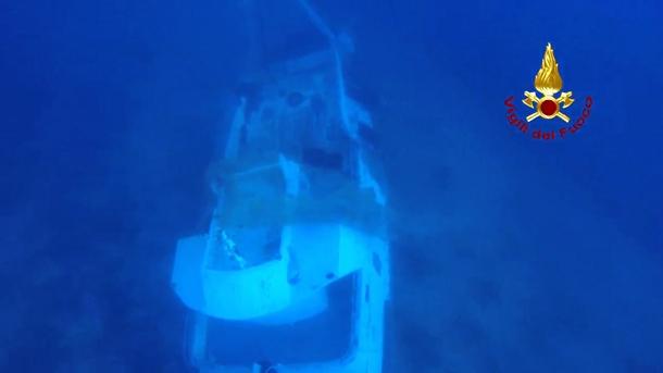 embarcación naufragada en Lampedusa