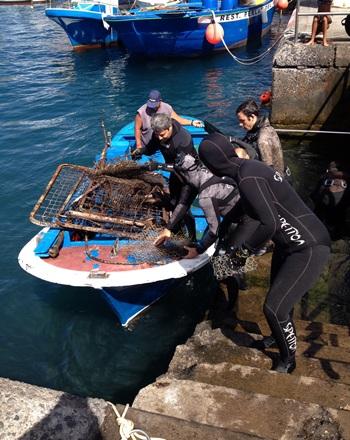 limpieza fondo marino Los Abrigos