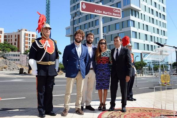 Inauguración de la calle Adán Martín. | SERGIO MÉNDEZ
