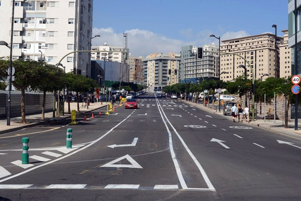 La calle Adán Martín. | SERGIO MÉNDEZ