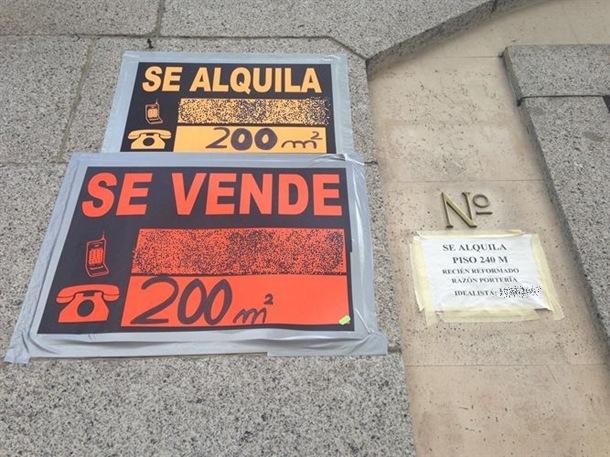 carteles venta y alquiler local edificio