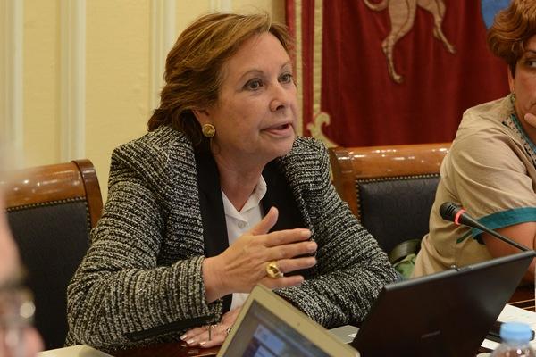 La consejera de Empleo, Francisca Luengo, comparece en la comisión parlamentaria. | SERGIO MÉNDEZ