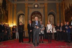 El consejero canario José Miguel Pérez, durante su comparecencia previa a la reunión en el Senado. | DA