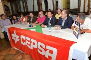 Un momento de la rueda de prensa de la presentación del Cepsa Campitos Lumican. | SERGIO MÉNDEZ