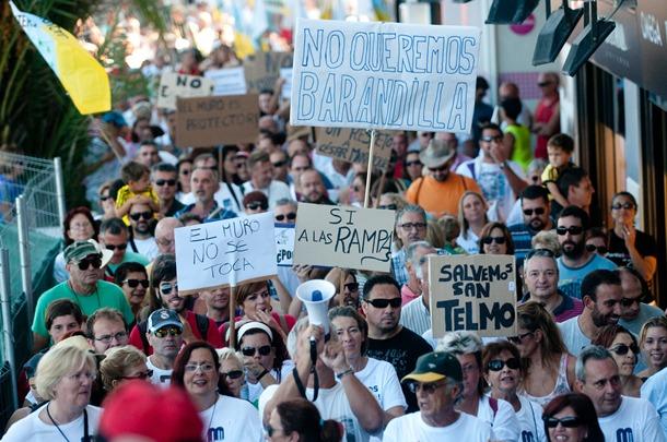 Una de las manifestaciones convocadas por ambos colectivos. | F.P.