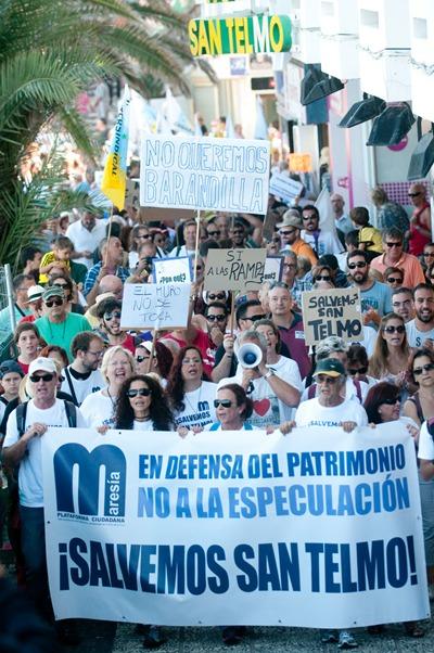 Imagen de la protesta llevada a cabo a finales del año pasado en la ciudad turística. / FRAN PALLERO