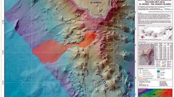 Mapa del volcán submarino de El Hierro. | DA