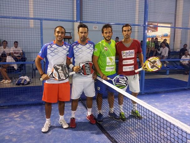 pádel Álvaro Gutiérrez y Sixto Hernández, junto a Tony Calafell e Iván Risueño