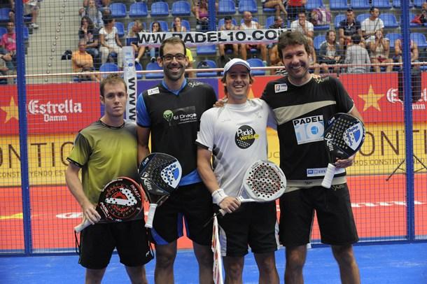 padel Víctor Sáenz, Nauzet Guedes, Edu Bainard y Joan Gisbert
