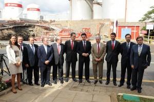 Imagen de archivo de Soria en una visita a la refinería. | SERGIO MÉNDEZ