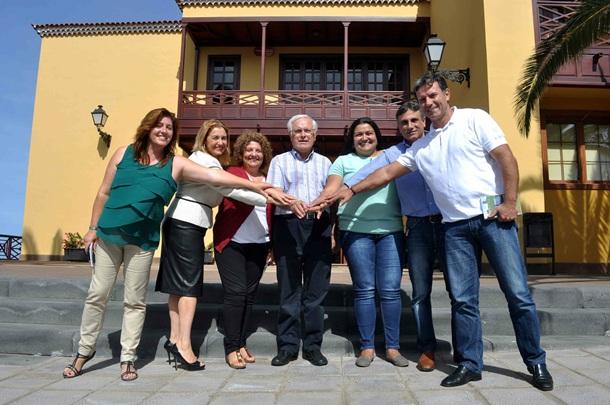 Elena Luis, Jose Heriberto Gonzalez, Marco Antonio Abreu, Pino de Leon, Coromoto Yanes, Lorenzo Dorta
