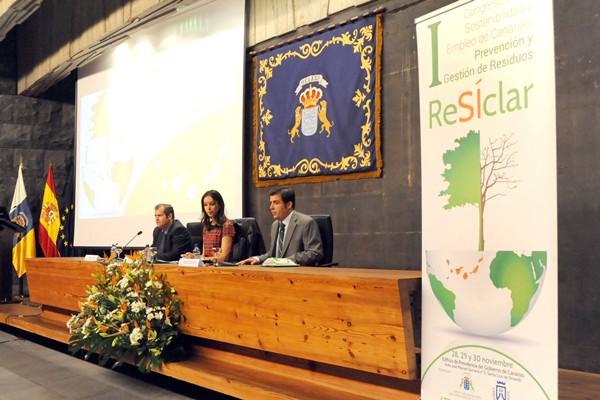 La viceconsejera Guacimara Medina inauguró el congreso. / J. GANIVET