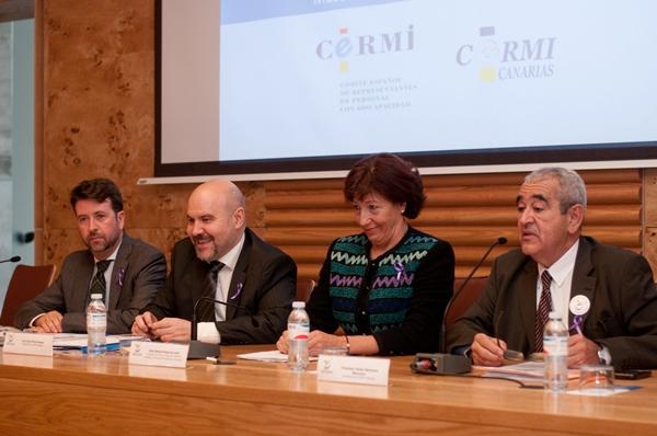 Ayer se inauguró el IX Congreso Estatal de Cermi autonómicos, que se celebra estos días en Tenerife. | F. PALLERO