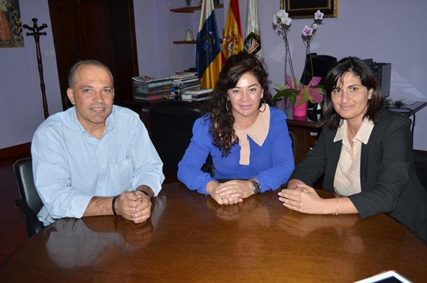 Javier Mederos, Beatriz Barrera y Carmen Luisa Castro