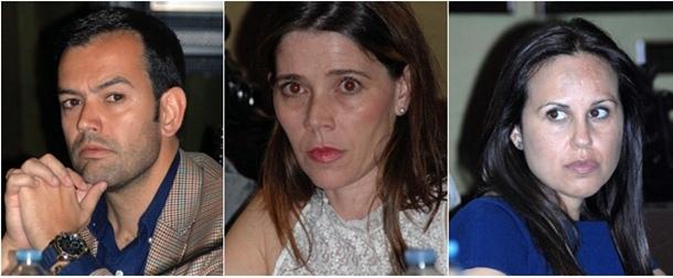 Lope Afonso (PP), Antonia Domínguez (PP) y Verónica Rodríguez (CC)