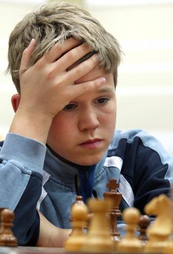 Magnus Carlsen con 13 años