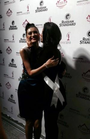 Patricia Yurena y su madre en el certamen de Miss Universo. | DA