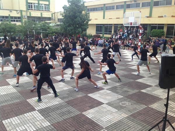 Exhibición esta misma semana de alumnos de Actividades Físicas y Deportivas del IES Virgen de la Candelaria, en Ofra. | DA