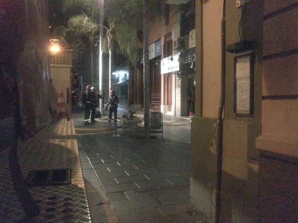 incendio en un comercio de la calle del Castillo