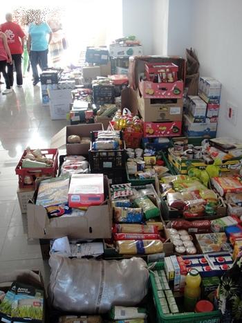reparto alimentos Cáritas Puerto de la Cruz