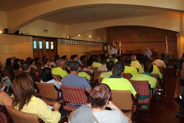 reunión trabajadores Candelaria