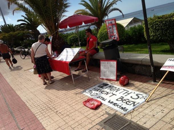 SOCORRISTAS ARONA en huelga Playa de las Vistas